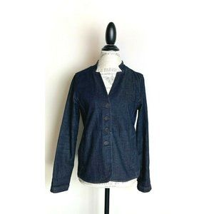Eileen Fisher Denim Jean Blazer Jacket M Petite